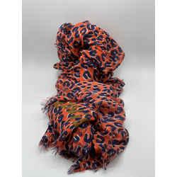 Louis Vuitton x Stephen Sprouse Graffiti Leopard Scarf Wrap Stole 74L x 55W