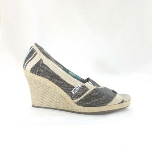 6 - Toms Shoes Womens Open Toe Wedge