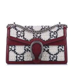 White Gucci Dionysus GG Tweed Shoulder Bag