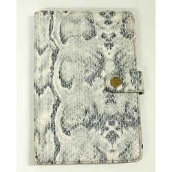 St. John Kindle Fire Case Cover Snake Skin Print Leather Suede Lining Gray