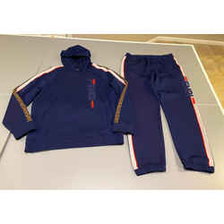 Authentic Fendi Navy blue Jogging Track Suit FF Logo Size IT54 USA XXL B318