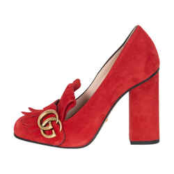 Gucci Suede Marmont Pumps - New Condition