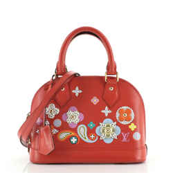 Alma Handbag Limited Edition Floral Patchwork Epi Leather BB
