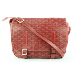 Goyard Red Chevron Belvedere MM Crossbody Messenger 708gy323