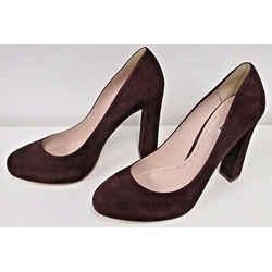 Miu Miu Burgundy Almond Toe Suede Heels  - Never Worn - Size 39 1/2