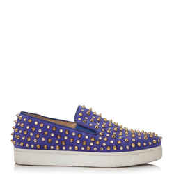 Pre-Owned Christian Louboutin Spike Slip Ons