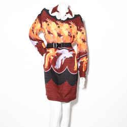 Fendi Belted Parrot Shirt Dress