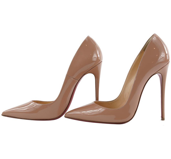 Christian Louboutin Size 37 Nude Patent So Kate 120 Heels305cl217