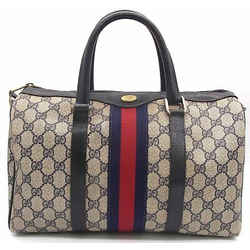 Gucci Authentic Sherry Line Old Mini Boston Bag Navy Italy