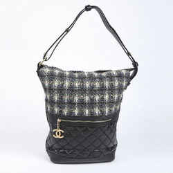 Chanel Casual Style Quilted Tweed Hobo Bag