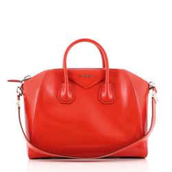 Antigona Bag Glazed Leather Medium