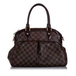 Vintage Authentic Louis Vuitton Brown Damier Ebene Trevi PM FRANCE