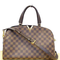 Louis Vuitton Kensington Bowling Damier Ebene Shoulder Handbag