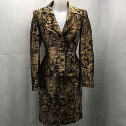 Escada Gold Metallic Skirt Suit 6