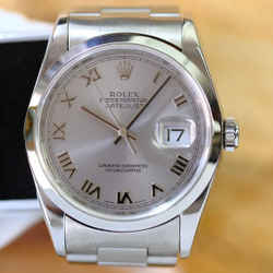 Rolex Datejust Silver Roman Dial 36mm Watch