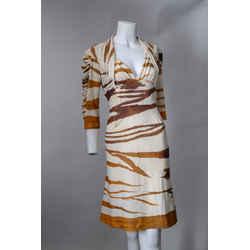 Roberto Cavalli Tiger Print Sheath Dress