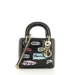 Lady Dior Bag Beaded Leather Mini