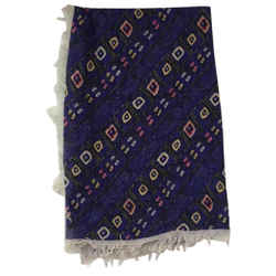 Isabel Marant Purple Fringe Cashmere Scarf/Wrap Size: OS