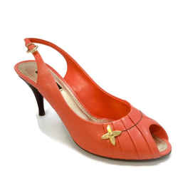Louis Vuitton Coral Peep Toe Pumps