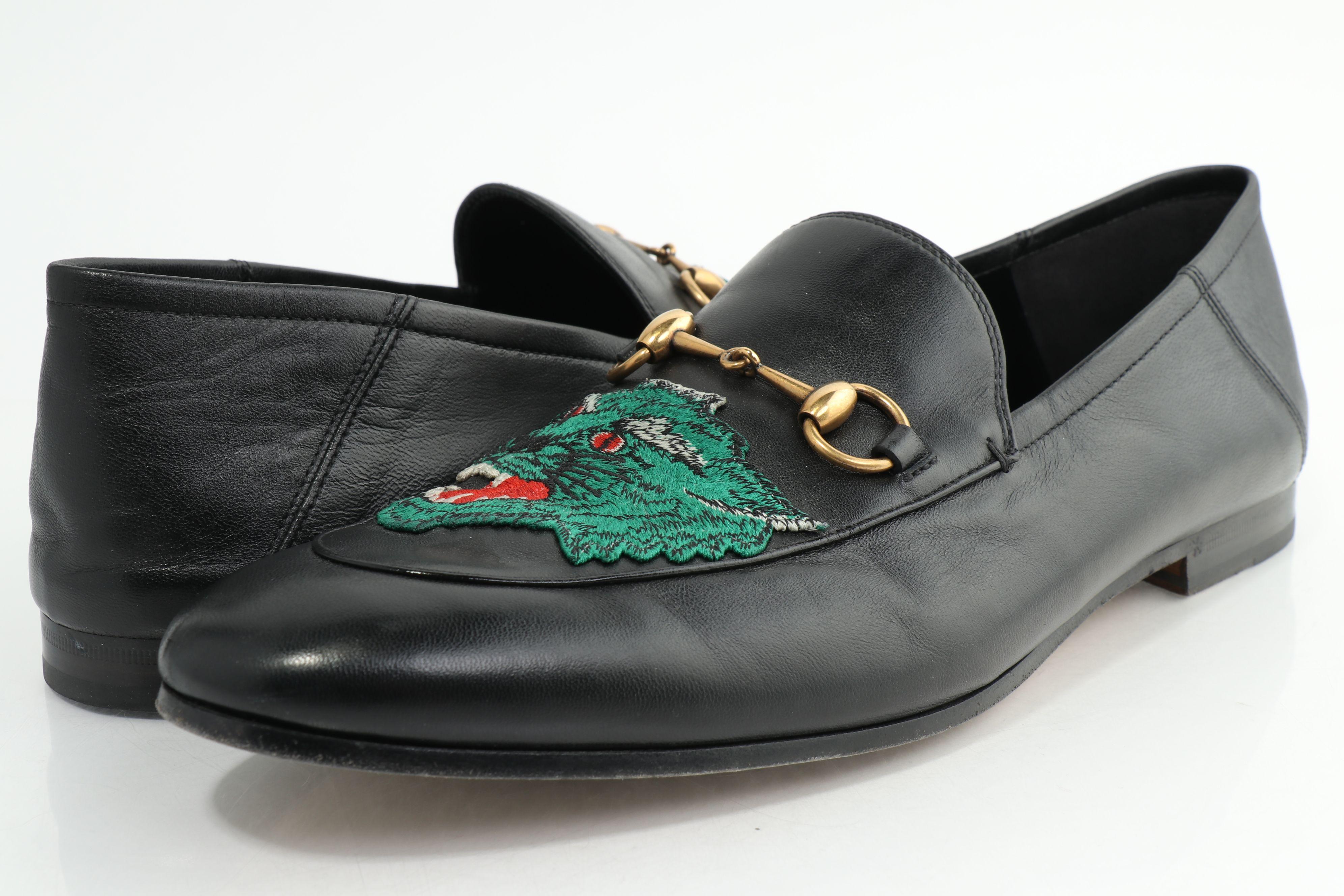 Gucci Wolf Brixton Horsebit Loafers