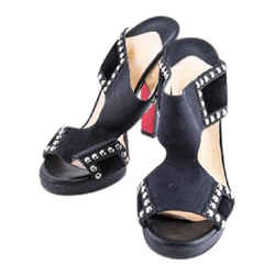 Christian Louboutin Sandals Black Size 7.5