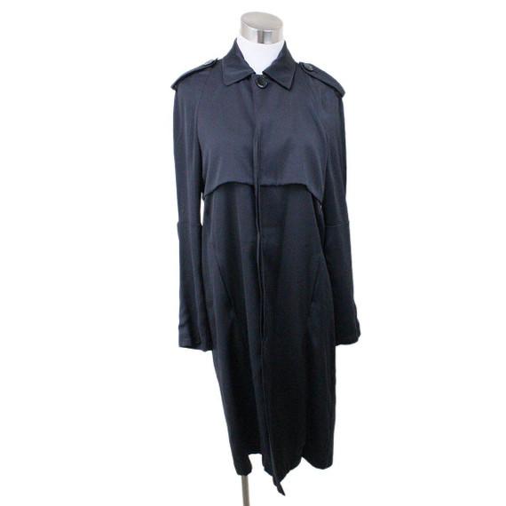 Celine Black Trench Coat Size 2