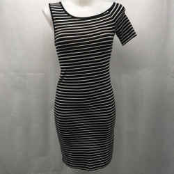 Frame Black Stripe Dress Medium