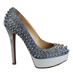 Christian Louboutin Bianca Denim Pumps Blue Size 4.5 Authenticity Guaranteed