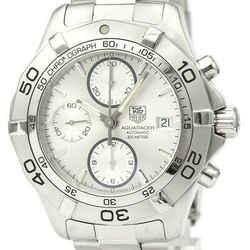 Polished TAG HEUER Aqua Racer Chronograph Steel Automatic Watch CAF2111 BF529605