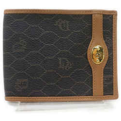 Christian Dior Ultra Rare Honeycomb Black Monogram Trotter Bifold Men's Wallet 861984