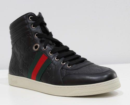 black high top gucci shoes