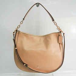 Coach Chelsea Hobo 32 37755 Women's Leather Shoulder Bag Beige BF522883