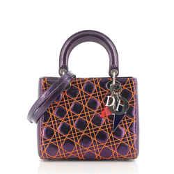 Lady Dior Bag Anselm Reyle Cannage Quilt Leather Medium