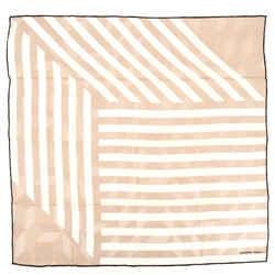 Striped Carre Scarf Printed Silk 65