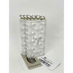 GOYARD Saint Michel White Gray Coated Canvas 6 Key Holder Wallet B219
