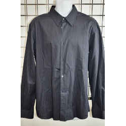 Costume National Black Striped Men's Button down Shirt Size Large On Sale kp