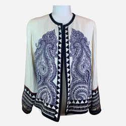 Multicolor Lightweight Pleated Silk Jacket