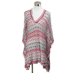 Missoni Pink and White Open Weave Beachwear Coverup