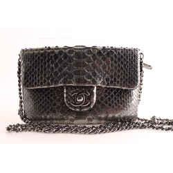 Chanel Python Leather Clutch