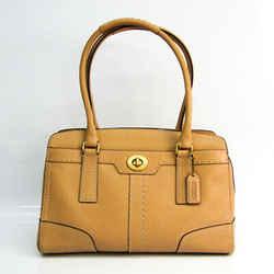 Coach Trim Hamptons Leather Satchel 11540 Women's Leather Tote Bag Ligh BF526010