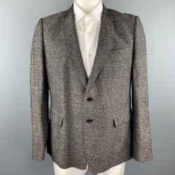 DRIES VAN NOTEN Size 44 Brown Heather Linen / Cotton Sport Coat