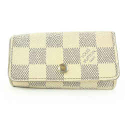 Louis Vuitton Damier Azur 4 Key Holder Case Multicles Wallet 9lk0128