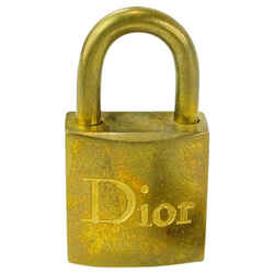 Dior Gold Dior Lock and Key Set Padlock Cadena 13DRL1127