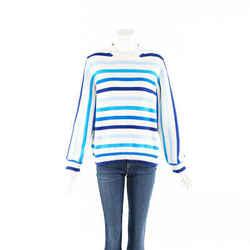 Chinti and Parker Sweater Breton Blue Striped Cotton Knit SZ S