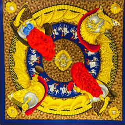 Casques Et Plumets Hermes Scarf By Julia Abadie 90cm Silk