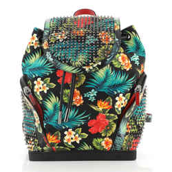 Explorafunk Backpack Spiked Printed Canvas