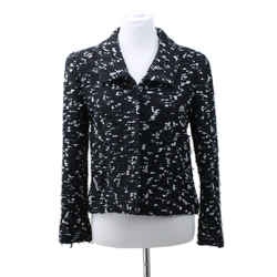 Chanel Black and White Wool 2pc Skirt Suit Sz 10