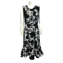 Erdem Black White Floral Work/Office Dress
