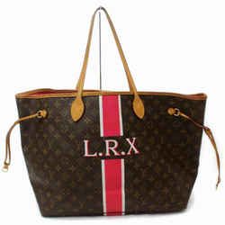 Louis Vuitton Mon Monogram Stripe Neverfull GM Red Tote Bag Large 858623