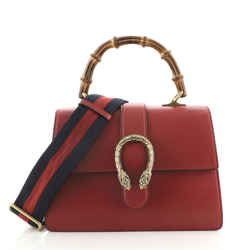 Dionysus Bamboo Top Handle Bag Leather Medium